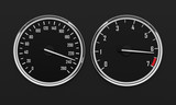 Speedometr and tachometer