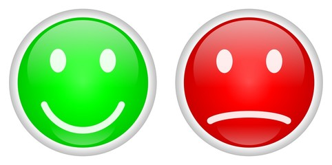 Positive and Negative buttons