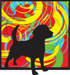 Dog. Vector illustration