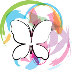 Butterfly background. Vector illustration