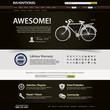 Web Design Website Elements Dark Brown Template