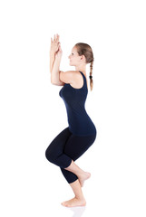 Yoga garudasana eagle pose