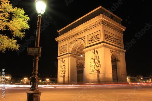 Superbe vue sur l'Arc de Triomphe