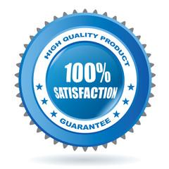 100% satisfaction vector sign