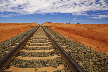 Railtracks In Australian Outback