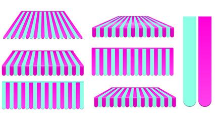 pink awning