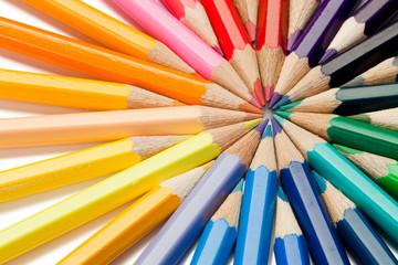 Close color pencils