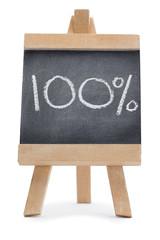 """Chalkboard with """"100%"""" written on it"""