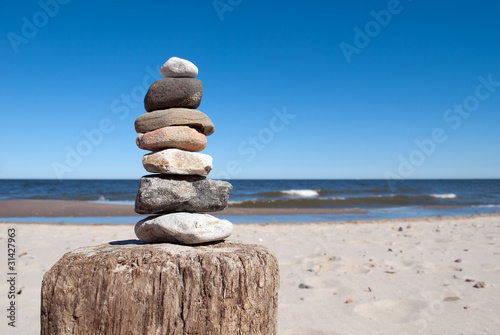 Steine auf Buhne