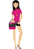 beautiful fashion women. vector illustration