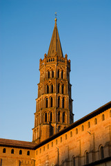 Bell tower of St Sernin Basilica in Toulouse