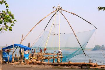 Chinese fishing nets in Fort Сochin, India