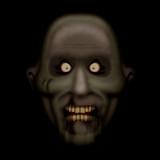 Scarred evil zombie in the dark poster