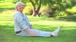 Mature woman doing her stretches