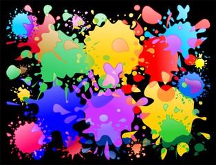 Macchie di Vernice Colori Sfondo-Colors Stains Background-2