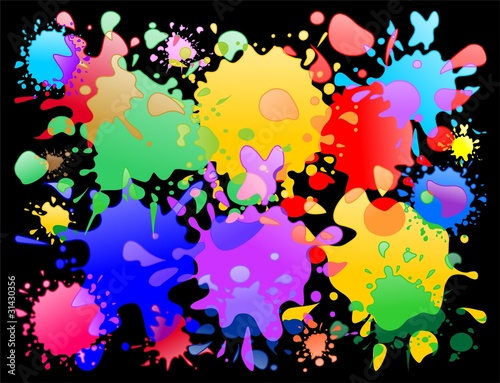 Colori di Vernice Macchie di Vernice Colori