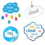 cloud tag icon
