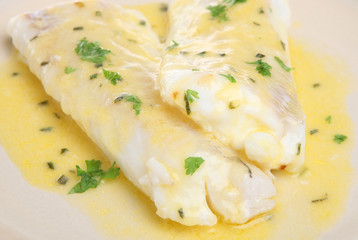 Poached Haddock Fillets in Herb Sauce