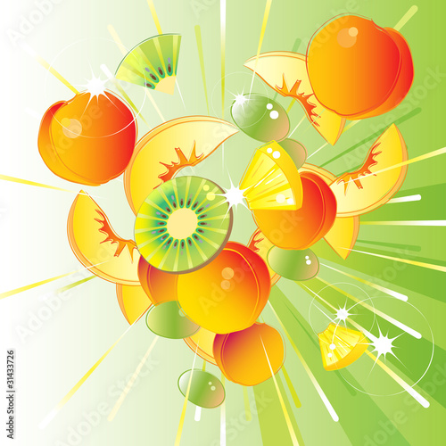 Fresh fruit burst