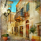 Fototapety pictorial old streets of Greece