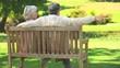 Mature couple talking outside