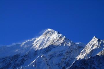 Himalayas and Blue Sky