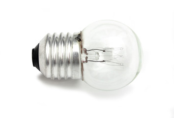 small light bulb isolated