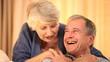 Senior couple sharing a joke