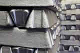 buffer stock of aluminum bars