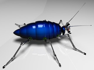 Mechanical cockroach with dark blue by a body №1