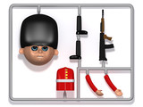 3d Model Soldier plastic construction kit