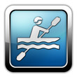 "Glossy Square Icon ""Kayaking"""