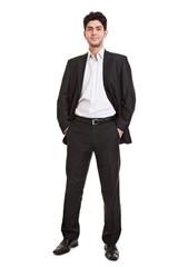Junger Manager im Anzug