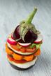 aubergine with fresh vegetable