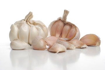 Two garlic
