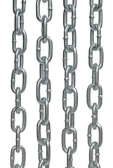 Four steel chains