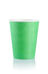 Green disposable cup