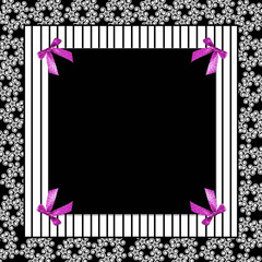 Black/White/Fuchsia Girly Background