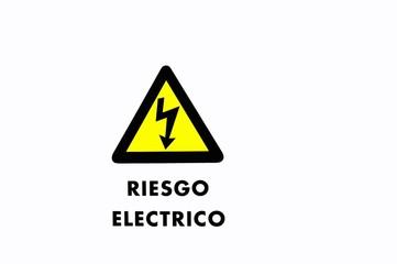 Letrero de Riesgo electrico.