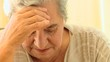 Elderly woman very worried