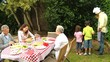 Family  barbecue  with grandparents
