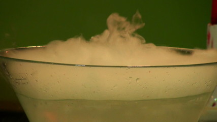 Dry ice in the water