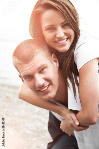 Happy caucasian couple