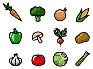 Cartoon Vegtable Icons