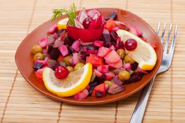 Food - tasty russian course  - vinaigrette
