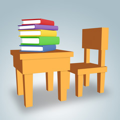 Table With Books