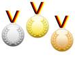 Médailles aux couleurs allemandes