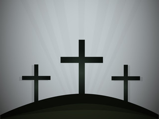 Silhouettes of crosses. Vector illustration