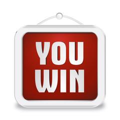 Cartello 3D You Win_ROSSO