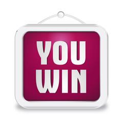 Cartello 3D You Win_VIOLA
